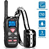 LumoLeaf Dog Training Collar, Waterproof USB Rechargeable Dog Remote Trainer with Static Shock