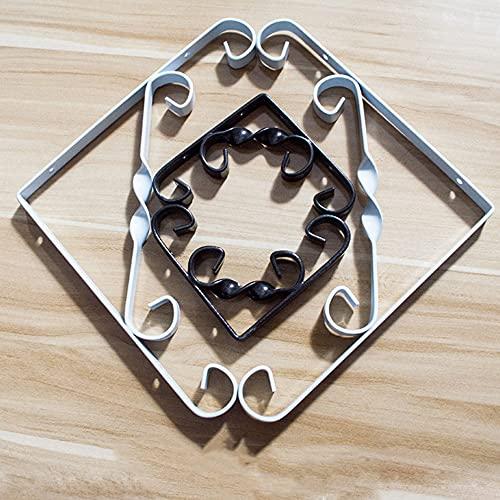 WZYX Staffa per Mensola A Muro 2 Pezzi Staffe per Mensole Triangolare in Ferro 100/150/200/250mm Reggimensole Galleggiant A Forma di L