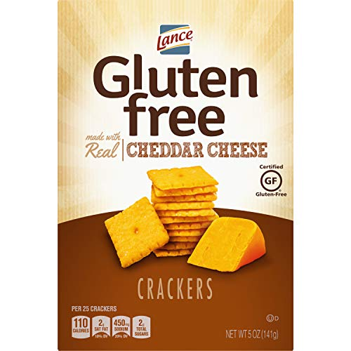 Lance Gluten Free Crackers, Cheddar Cheese, 5 Ounce Box