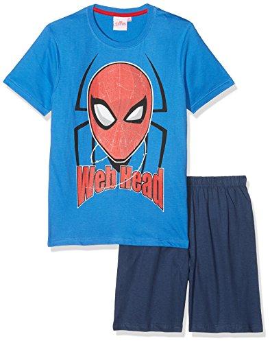 Spiderman Jungen Shorty-Pyjama - blau (116)