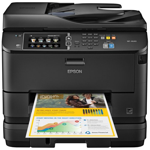 Epson WorkForce Pro WF-4640 Wireless Color All-in-One Inkjet Printer with Scanner and Copier, Amazon Dash Replenishment Ready