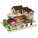 Puppenhaus Süß Haus DIY House Puppenhaus mit Licht Bausatz Holz Modell Set Puppenhaus kit DIY...