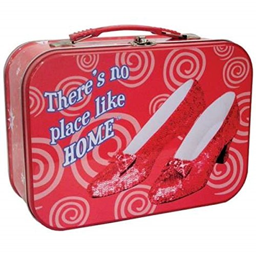 WL SS-WL-17256, The Wizard of Oz There's No Place Like Home Ruby Slippers Tin Tote