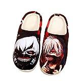 SHOESESTA Zapatillas de Estar por Casa Anime japonés para Hombre Chanclas cálidas Felpa Zapatos de Interior Antideslizantes