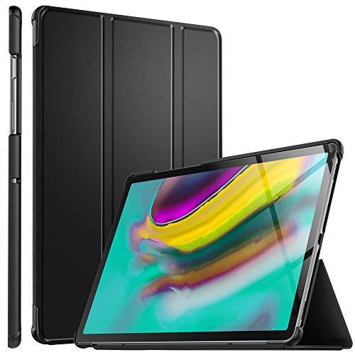 ELTD Hülle für Samsung Galaxy TAB S5E,Ultra Lightweight Flip mit Ständer & Eingebautem Magnet Hochwertiges PU Leder Schutzhülle für Samsung Galaxy TAB S5E T720/T725 10.5 Zoll Tablet (Schwarz)