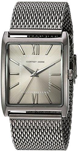 Relógio masculino Geoffrey Beene GB8052GU com mostrador analógico, quartzo japonês, cinza