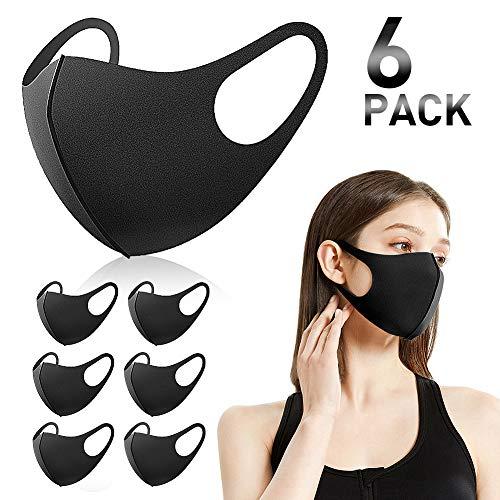 6 pezzi maschera paradenti, maschera antipolvere, maschera alla moda unisex, maschera riutilizzabile, lavabile.