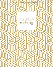 Agenda 2018-2019: Agenda súper bonita con frases, semanal y mensual, diseño arte abstracto, 20 x 25cm (Octubre 2018 - diciembre 2019) (Spanish Edition)