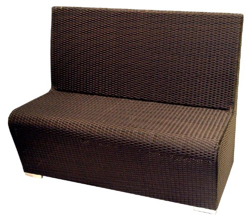 ATC Villa All-Weather Woven Wicker Booth, Expresso (Pack of 2)