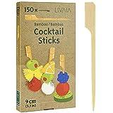 Spieße Fingerfood: 150x Bambus Fingerfood Spieße und Cocktail Sticks 9cm – Cocktailspieße für...