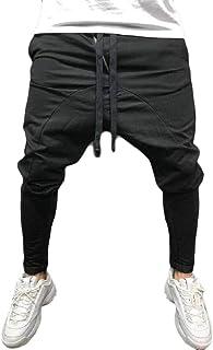 YYG Men's Hip Hop Gym Bodybuilding Elastic Waist Baggy-Pants Casual Sport Sweatpants Pants Trousers