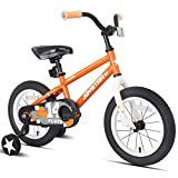 JOYSTAR 18 Inch Kids Bike with Training Wheels for 5 6 7 Years Old Boys, Toddler Cycle for Early Rider, Child Pedal Bike,Orange