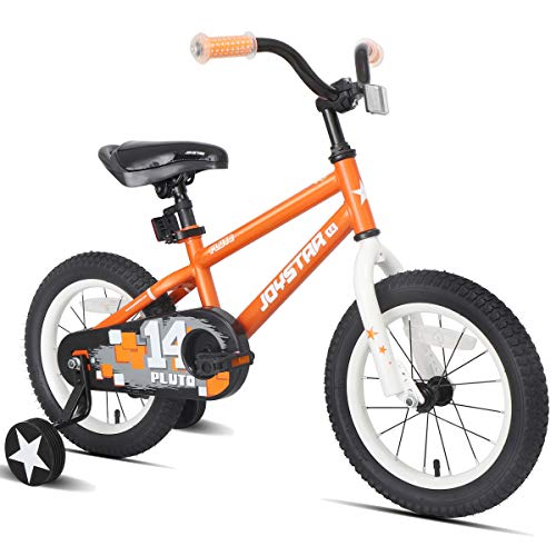 JOYSTAR 14 Inch Kids Bike with Training Wheels for 3 4 5 Years Old Boys, Toddler Bicycle for Early Rider, Child Pedal Bike, Orange