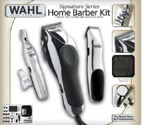 Wahl 30 Piece Hair Cut Home Barber Kit Trimmer Clipper Signature Series Haircut