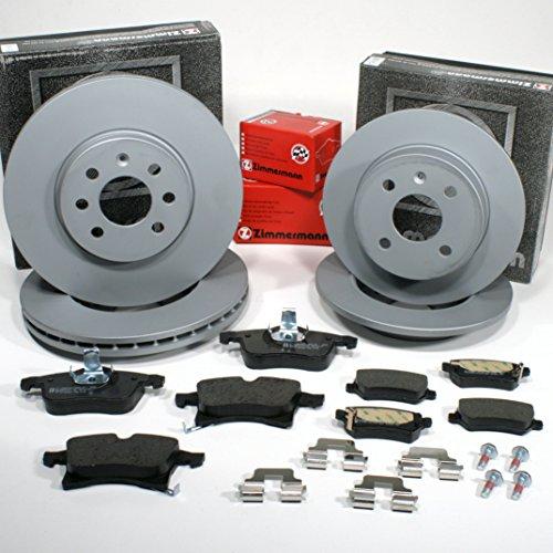 Zimmermann Bremsscheiben 4-Loch Coat Z/Bremsen + Bremsbeläge für vorne + hinten