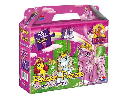 Noris 606037376 - Filly Unicorn Bodenpuzzle, 48 Teile