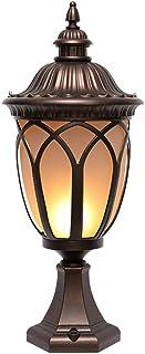 European Column Headlights LED Fence Lamp Wall Head Lamp Outdoor Lighting Street Lamp Door Pillar Patio Decoration Lamp Ga...