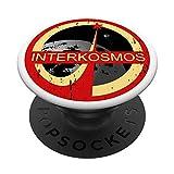 Interkosmos Soviet USSR DDR CCCP Sputnik Gagarin Kosmonaut PopSockets PopGrip: Ausziehbarer Sockel und Griff für Handys/Tablets mit Tauschbarem Top