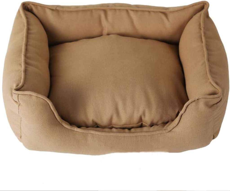 Pet Nest Dark Brown Cotton Sail Kennel Cat Litter Waterproof and MoistureProof Three Sizes Optional Pet Supplies,55  45  16CM