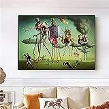 Cuadro En Lienzo El sueño Americano de Salvador Dali Arte de la Pared Reproducciones de Obras de Arte Famosas Cuadros de Pared para la Sala de Estar 60x90cm