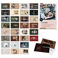 30枚 メリークリスマスカード 夜光ポストカード DIYクリスマスカード ギフトカード サンタクロース クリエイティブギフト 家族や友人に最適