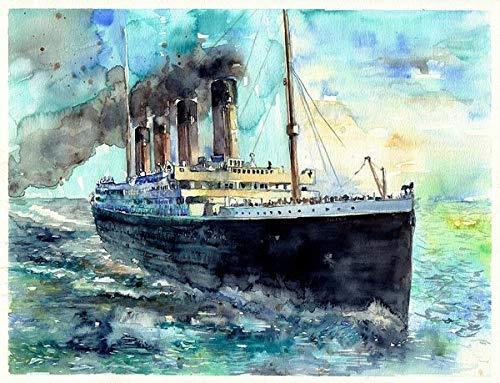 WTZFHF 1000-teiliges Puzzle, RMS Titanic White Star Line Schiff, Puzzles für Erwachsene 1000-teiliges Puzzle für Kinder, Wohnkultur für Erwachsene