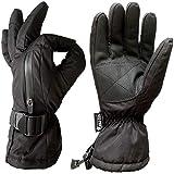 Self Pro 3M Thinsulate Waterproof Gauntlet Gloves for Men & Women, Black, Large