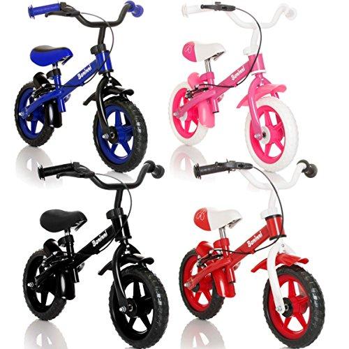 Stimo24 Laufrad Kinderrad (MIT BREMSEN) / Fahrrad / Lernlaufrad in 4 (Schwarz)