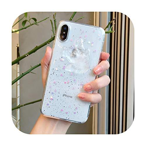 A prueba de golpes lindo oso 3D cubierta del teléfono Coque para iPhone 12 11 Pro X XS Max XR funda de dibujos animados transparente para iPhone 7 8 Plus suave TPU Case 12-iPhone 12 Pro