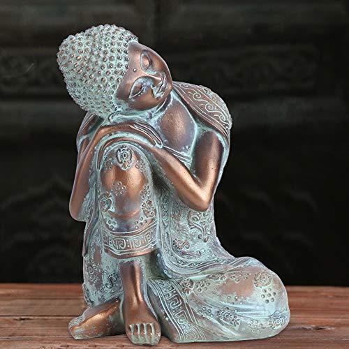 03 Adorno de Escultura de Buda Durmiente de Resina, Figuras de época,...