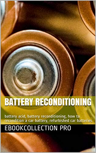 Battery Reconditioning: battery acid, battery reconditioning, how to recondition a car battery, refurbished car batteries (English Edition)