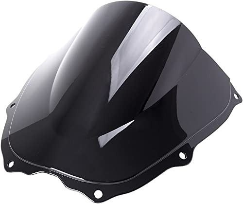 wholesale Mallofusa New Motorcycle Windshield Windscreen Compatible for Honda 2021 VTR1000 2000 2001 2002 2003 2004 online 2005 2006 Black outlet sale