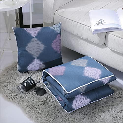 Cojines al aire libre de jardín, colcha de almohada 2 en 1- almohadas de jardín lanza cojines para la cama para la oficina de coches para la casa de dormir para dormir y soporte para el cuello,50*50cm