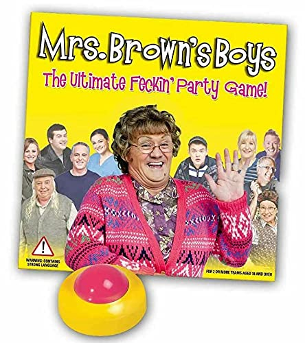 Adult Playing Mrs Brown's Boys Ultimate Feckin Party Board Game