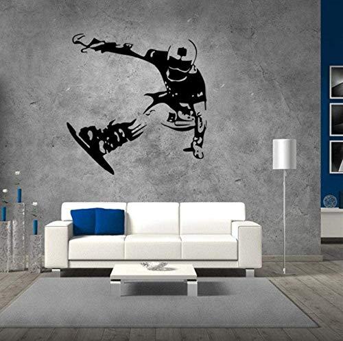 Muurstickers 57X58Cm Schaatsbord Tiener Jongens Slaapkamer Achtergrond Muurstickers Snowboard Skiën Wallpaper Home Decor Wall Art muurschildering Poster