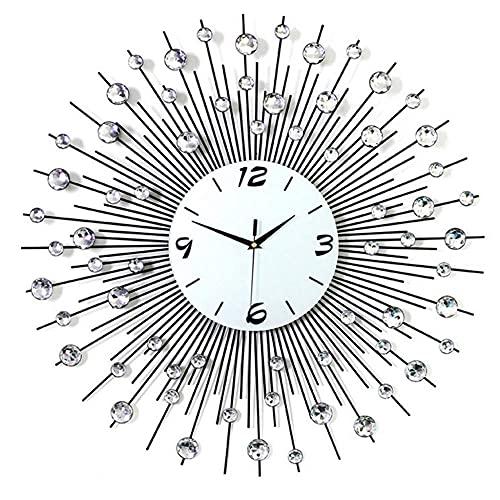 DIEFMJ Reloj de Pared de Moda Creativa de 25,6'- Reloj de Estilo Minimalista Moderno - Reloj de Cuarzo silencioso para Dormitorio - para Sala de Estar Dormitorio