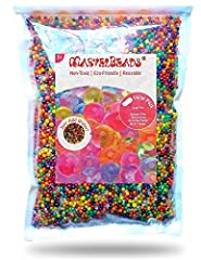 Encourages Sensory Exploration: Fully expanded, these smooth, squishy beads create a soothing tactile experience. Ideal for children with sensory processing disorder & a 100% Money-Back Guarantee: We know you and your kids or students will LOVE these...