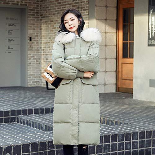 ZYJANO Donsjack, Dames Winterjassen Vrouwelijke 2019 Jas met capuchon en natuurlijke bontkraag plus groot formaat parka manteau femme kleding