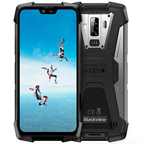 """Smartphone Antiurto, Blackview BV9700 Pro Rugged Cellulare, 6GB+128GB, SD 256GB, Android 9.0, Helio P70 Dual Sim 4G, 16MP+8MP+16MP, 5.84"""" FHD+ Schermo, Frequenza Cardiaca/Qualità Dell'aria/NFC"""