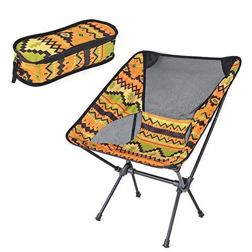 WWVAVA - Silla de camping portátil de aleación de aluminio ultraligera para viajes al aire libre, playa, picnic, rojo
