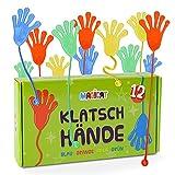 Magicat Premium Klatschhände Set, 12 klebrige Glibberhände I Geburtstag, Mitgebsel, Mitbringsel, Give Aways - Jungen und Mädchen, perfekt nach einem Kindergeburtstag oder einer Party