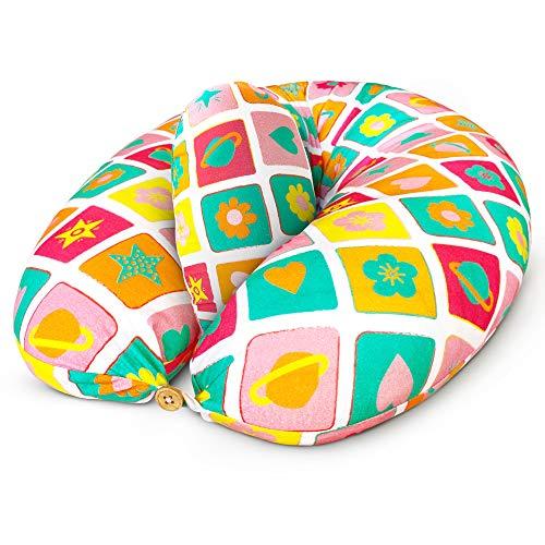 Bamibi ® Cuscino Allattamento + Cuscino Interno Multifunzionale e Cuscino Gravidanza per Dormire in Posizione Laterale, Federa 100% Cotone (Agatha)