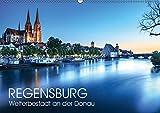 Regensburg - Welterbestadt an der Donau (Wandkalender 2019 DIN A2 quer): UNESCO-Welterbestadt Regensburg (Monatskalender, 14 Seiten ) (CALVENDO Orte) - Val Thoermer