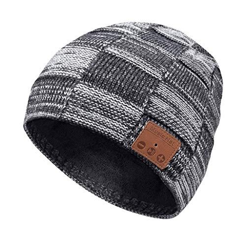 SHYPT Bluetooth-Mütze, V5.0-Bluetooth-Hut, kabellose Kopfhörer-Mütze, HD-Stereolautsprecher Eingebautes Mikrofon, elektronische Geschenke
