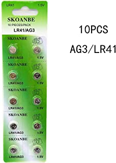 SKOANBE1card X10PCS LR41 AG3 392 384 192 1.5V Coin Button Cell Batteries