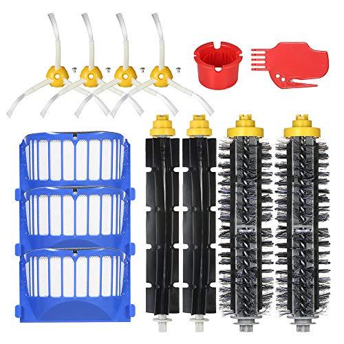 Pacote de 13 Kit de Acessórios de Substituição para iRobot Roomba Série 600 690 691 694 650 651 664 615 601 630 Aspirador de Pó - Escova de Cerdas + Escova Flexível + Filtro + Escova Lateral +