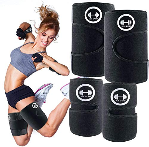 1H1K Sports Arm Trimmers Thigh Trimmers for Weight Lose (4 Pack Set)   Arm and Thigh Sweat Shaper Bands for Women and Men   Increases Heat & Sweat Production   Arm and Thigh Exercise Equipment