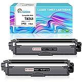 Clywenss MFC-9332CDW - Toner compatibile per Brother TN241 TN245, ricambio per stampanti Brother MFC-9142CDN MFC-9140CDN MFC-9342CDW DCP-9022CDW DCP-9017CDW DCP-9020CDW HL-3142CW (2 nero, 2500 pages)
