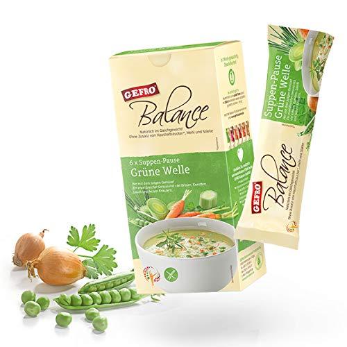 GEFRO Balance Suppen-Pause Grüne Welle: 6 Portionsbeutel, warme Mittagspaue & Mahlzeit