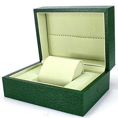 ROUHO Uhrbox Grün Uhr Geschenk-Box Schmuck-Box Für Rolex